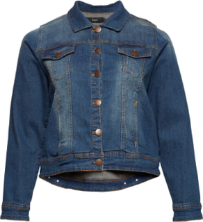Jacket, Long Sleeve Jakke Denimjakke Blå Zizzi