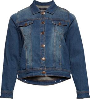 Jacket, Long Sleeve Dongerijakke Denimjakke Blå ZIZZI