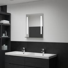 vidaXL vægspejl med LED til badeværelset 50 x 70 cm