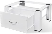Vaskemaskinesokkel med skuffe hvid