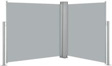 vidaXL Infällbar sidomarkis antracit 100x600 cm