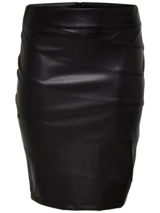 ONLY Curvy Pu Skirt Women Black
