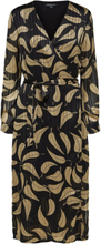 SELECTED Leaf Printed- Midi Dress Women Black