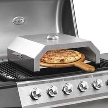 Pizzaovn med keramisk sten til gas- eller kulgrill