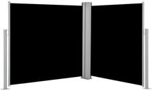 vidaXL Infällbar sidomarkis svart 120x600 cm