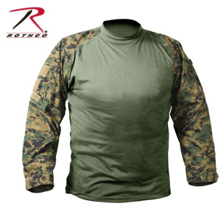 Combat Shirt Digital Woodland