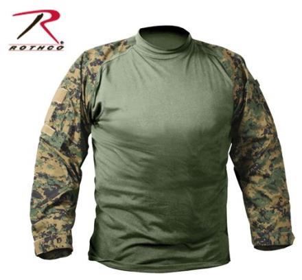 Combat Shirt Digital Woodland