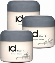 3-pack ID Hair Extreme Titanium Wax 100ml
