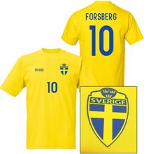 Sverige fotbollströja i polyester - forsberg 10 tryck