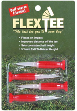FlexTee Flexible Fluorescent Golf Tees Red-4 Pack