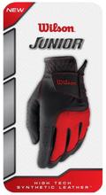 Wilson Junior Glove-Black/Red-Medium-Left