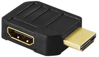 DELTACO DELTACO HDMI-adapter, 19-pin hane till hona, vinklad 7340004600022 Replace: N/ADELTACO DELTACO HDMI-adapter, 19-pin hane till hona, vinklad