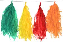 Trasselslinga med pom poms i flera färger 1,80 cm