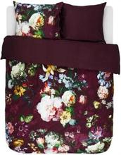 Essenza Sengesæt - 140x200 cm - Essenza Fleur Burgundy - sengetøj