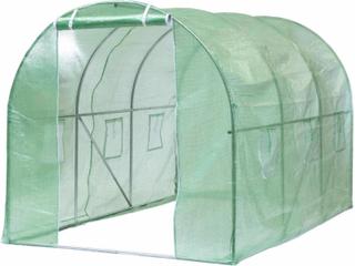 Drivhus Polytunnell - 3,5x2x2 m grønn