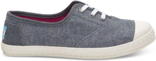 TOMS Schuhe Blau Multi Speckle Chambray Youth Zuma Sneakers - Größe 33