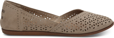 TOMS Damen Schuhe Taupe Suede Mosaic Jutti - Größe 36.5