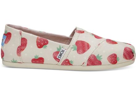 TOMS Damen Schuhe Birch Strawberries & Cream Classics - Größe 37.5
