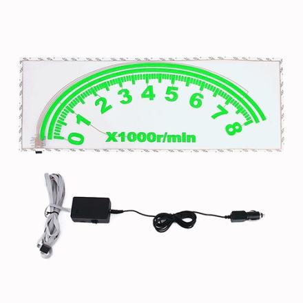 Valo auton takaikkunaan - nopeusmittari equalizer