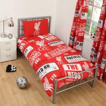 Liverpool fc patch påslakanset bäddset 135x200 + 50x75cm