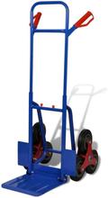 vidaXL Kokoontaittuva nokkakärry portaisiin 6 rengasta sininen