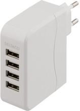 DELTACO DELTACO USB-laddningsstation, 4 USB-portar, 5,4A USB-AC114 Replace: N/ADELTACO DELTACO USB-laddningsstation, 4 USB-portar, 5,4A