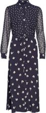Adelise Drape Midi Shirt Dress Knelang Kjole Blå French Connection