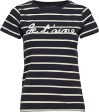 Tim Tim Francais Short Sleeve Rope Tee T-shirts & Tops Short-sleeved Blå French Connection