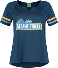Sesam Stasjon - Cookie -T-skjorte - blå