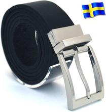 Läderbälte Bull svart 35mm 851-SP1
