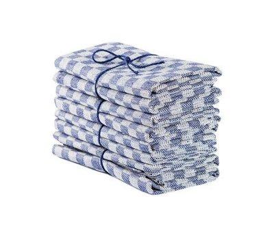 Axlings Linne 2-pack Handduk Schack marin/vit