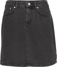 Pepper Denim Side Zip Mini Skirt Kort Skjørt Svart French Connection