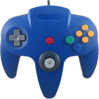 Handkontroll till Nintendo 64 (Blå)