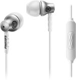 Philips headset in-ear she8105 - silver alu
