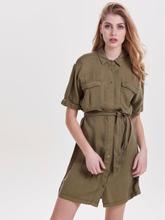 wholesale dealer 411fd 8c7b8 ONLY Detailed Short Sleeved Dress Women Green