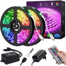 Rgb Smd 3528 Led Strip Light With Adapter Plug 16.5 Meters