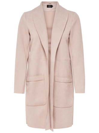 ONLY Suede Look Coat Women Pink