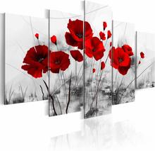 ARTGEIST Poppies Red Miracle billede - grå/rød print, 2 størrelser 200x100