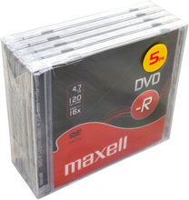 Maxell DVD-R 4.7GB 5-pack JewelCase