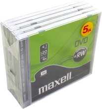 Maxell DVD+RW 4.7GB 5-pack JewelCase