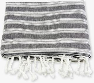 Hammam håndklæde, Sort m hvid strib