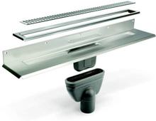 Unidrain Komplet Pakke 700 mm til 8 mm fliser - Mot bakveggen