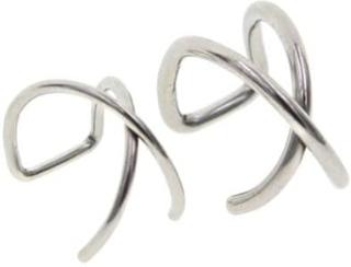 2-pack Fake Helix Piercing Öron Örhänge Ear Cuff utan Hål Silver