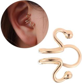 Fake Helix Tragus Piercing Öron Örhänge Ear Cuff utan Hål Guld