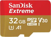 SANDISK Minneskort MicroSDHC Extreme 32GB+Adap funkar med GoPro