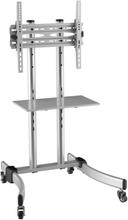 """DELTACOIMP TV-bänk med hjul 37""""-55"""" VESA 400x400 max 50kg, h1230mm tiltbar"""