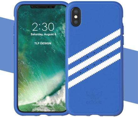 Adidas konstLäderbelagd TPU Skal till iPhone X - Blå