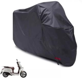 Vattentät MotorCykel Moped Skydd Regn Uv Stoft Storlek L - Svart
