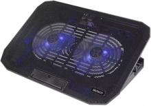 """DELTACO Laptopkylare för laptops upp till 15,6"""", 2 fläktar med blå LED"""