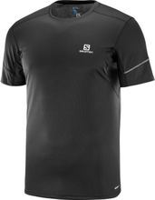 Salomon Agile SS Tee Men Herre Kortermede treningstrøyer Sort S